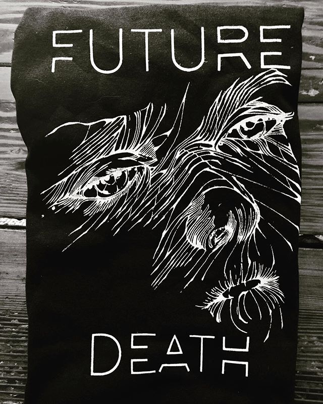 Order your Future Death shirt designed by @_eyesore_ and get a free digital download of the Cryptids EP.  Link available 👆. . . . . #sloql #futuredeath #freestuff #cryptidsep #eyesore #chaospop