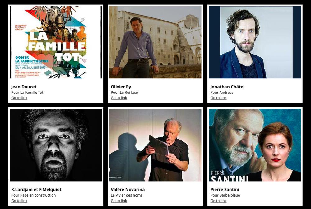 Émission de radio du festival d'Avignon in et coup de cœur du off, à écouter  ici