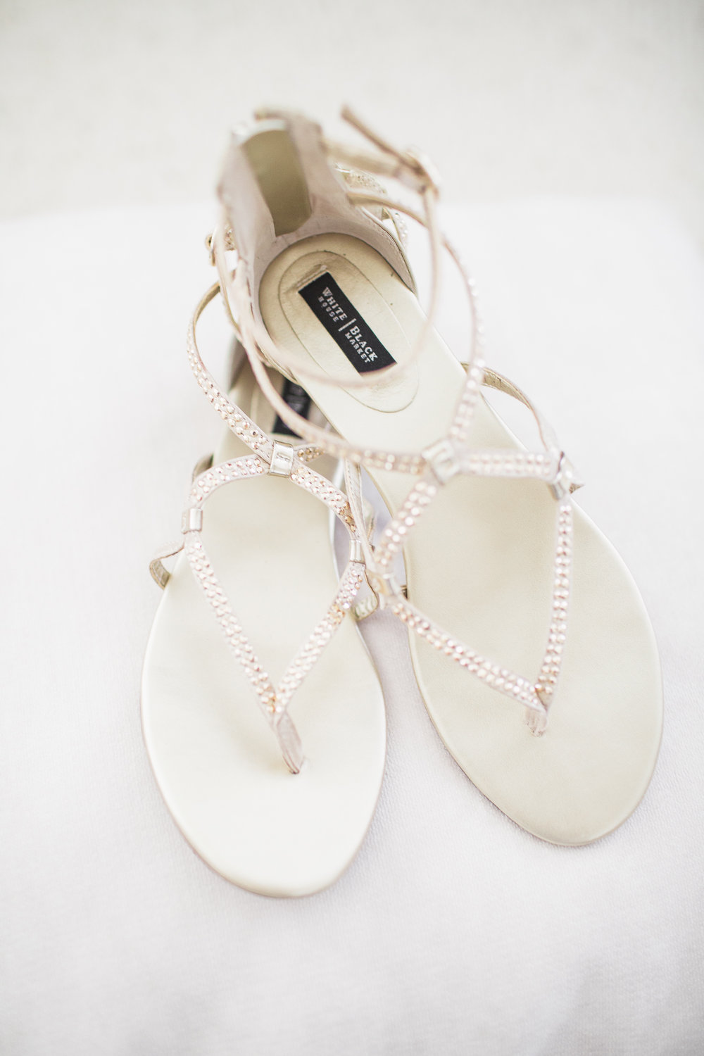 Her gorgeous and comfortable slippers she wore for her ceremony.