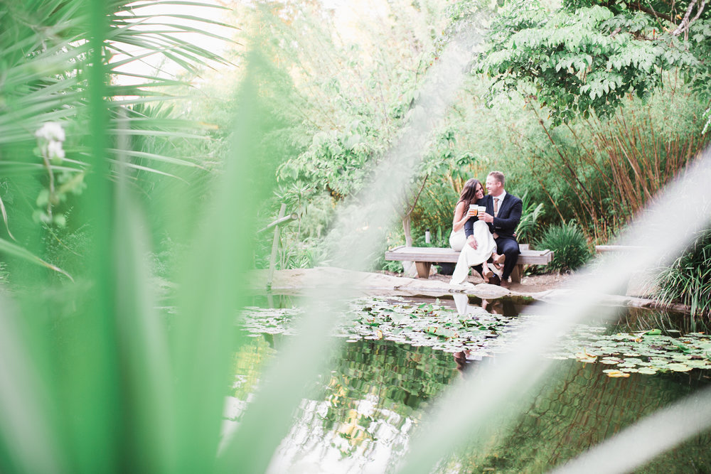 This beautiful pond perfect for their couple portraits.