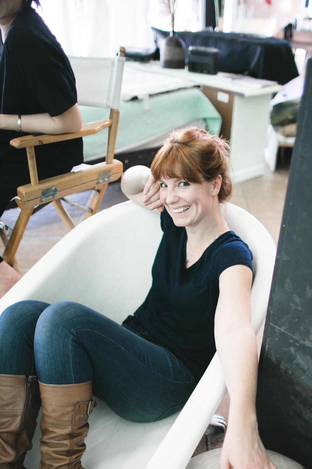 And sometimes, we just chill in tubs.  At least Sara does. :)