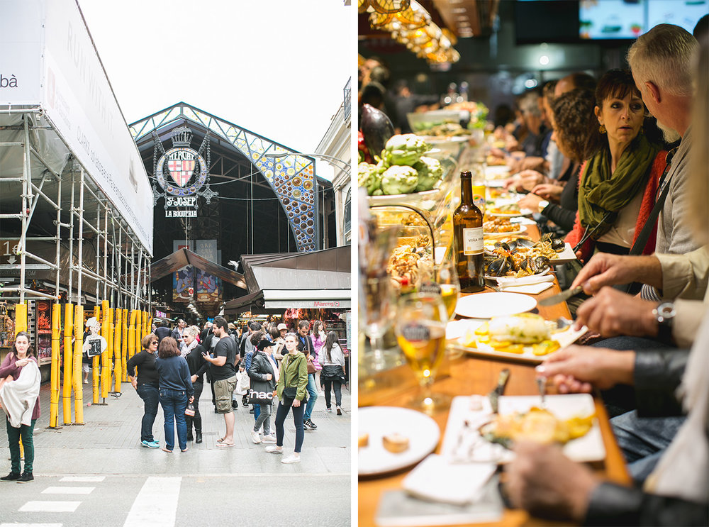 One of our highlights from the trip--the La Boqueria food market!