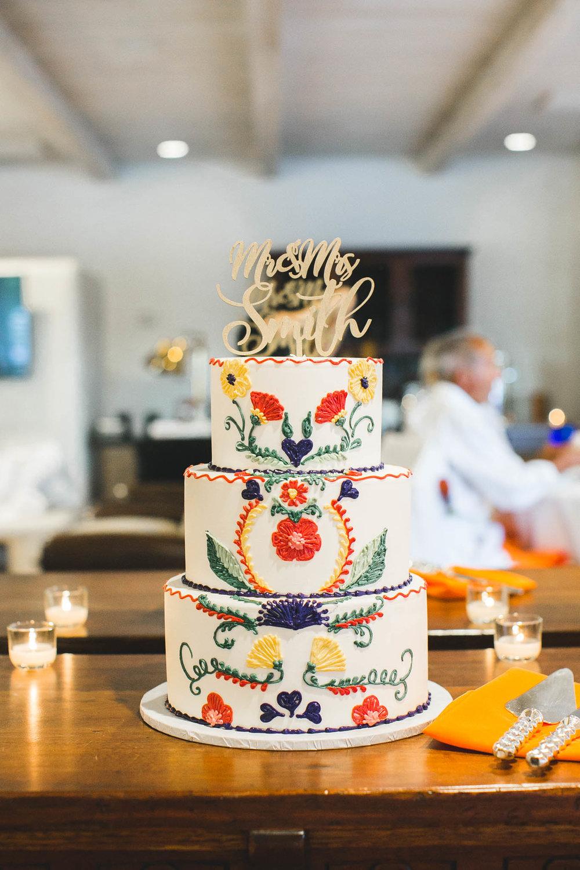 Festive Spanish Wedding Cake