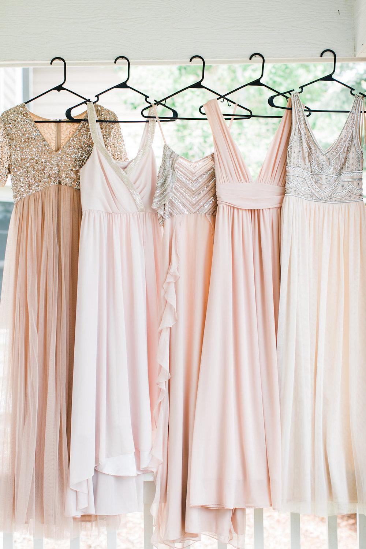 light blush bridesmaid dresses