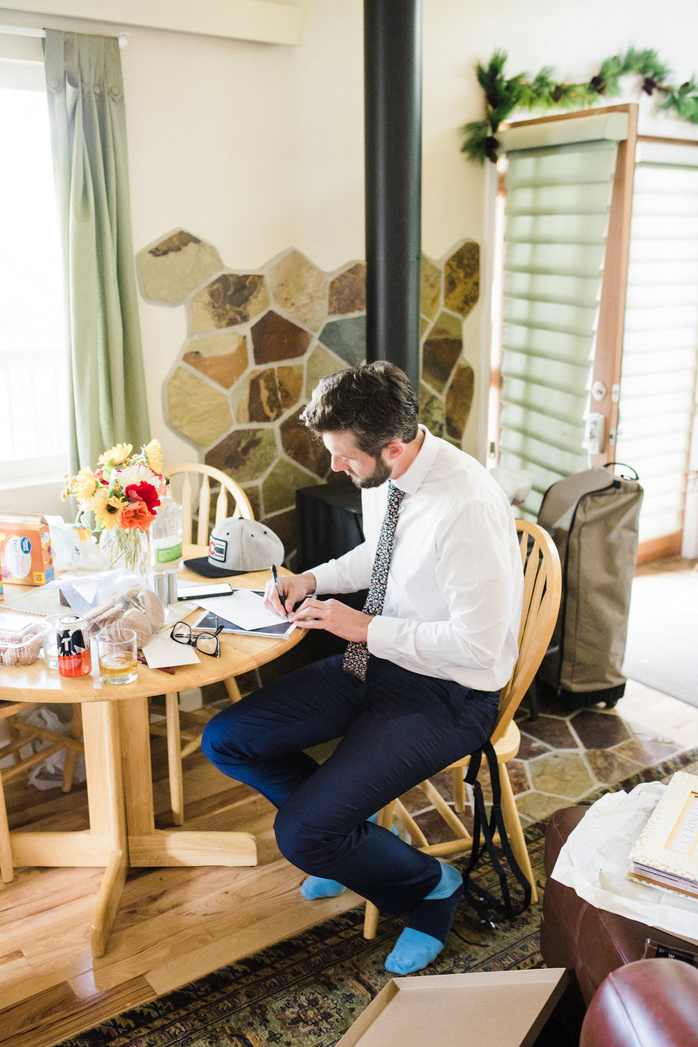 I love these images of Ryan writing down his vows.