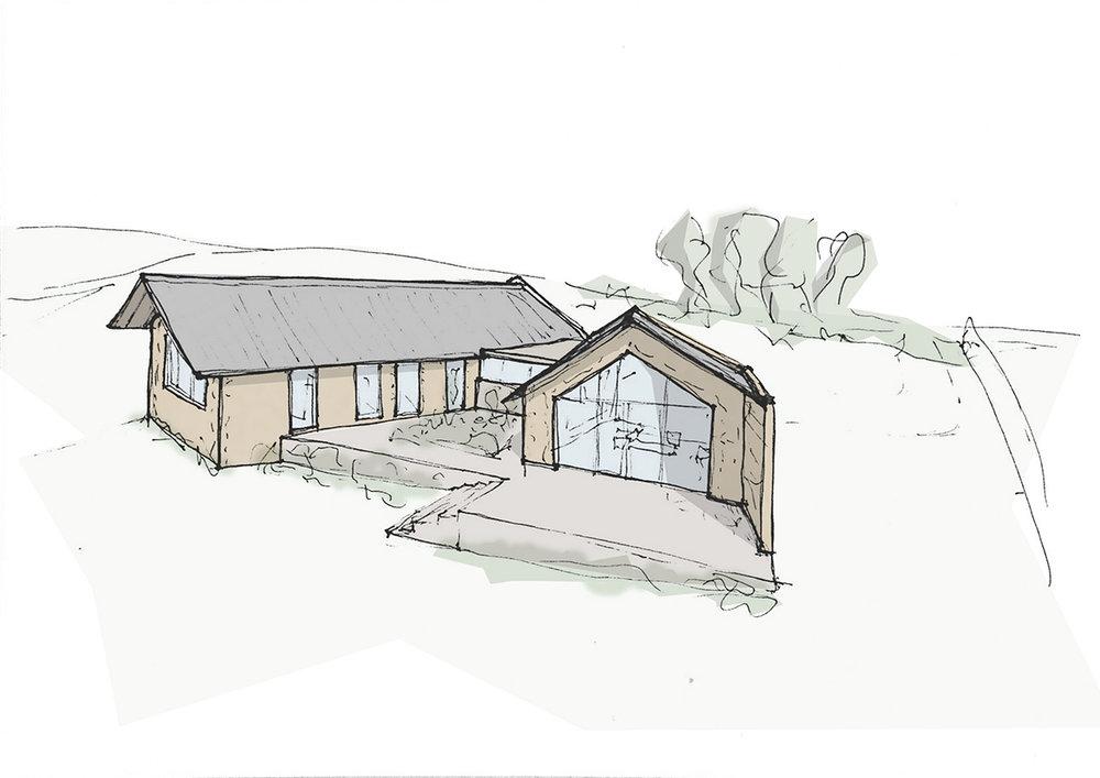 Stone house exterior conceptual sketch_Here Studio.jpg