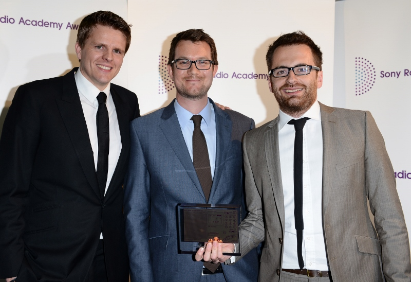 With Jake Humphrey and Radio 4 Executive Producer Richard Culver at the Sony Radio Academy Awards.