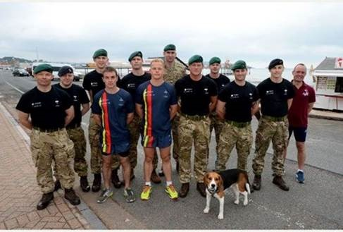 Aggies Pastoral Worker, Christian Hill (far right) with Royal Marines