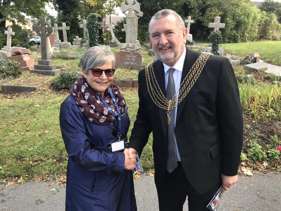 The Lord Mayor of Plymouth with Jenn, Aggie's Pastoral Worker from the Ark Community Project