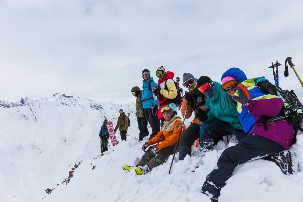 Celá crew, čo dorazila na vrchol. FrLM & čecháčci, ktorých týmto srdečne pozdravujeme!