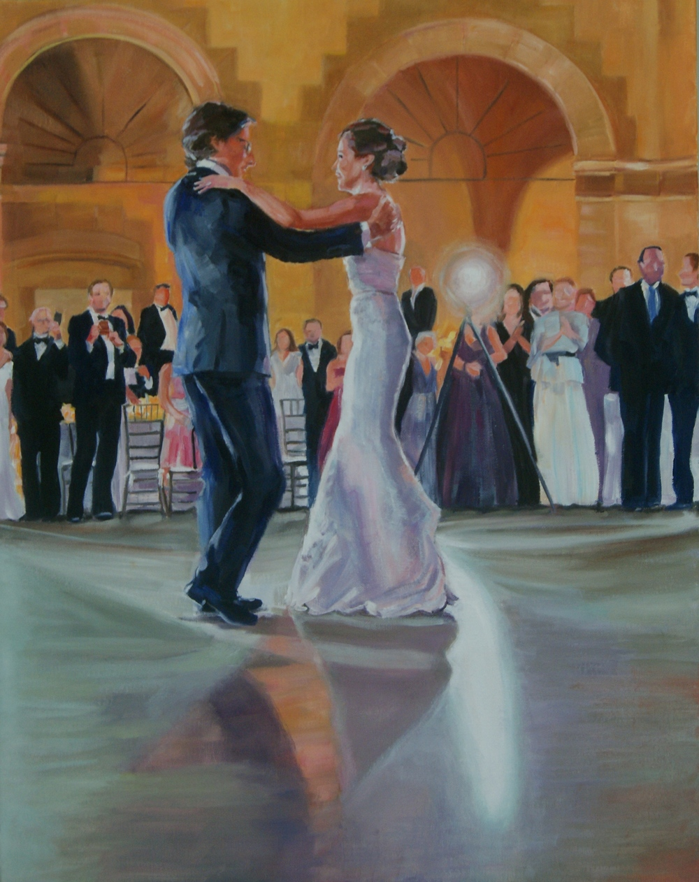 First Dance, 30 x 40 x 2 inch, oil on canvas, 2015