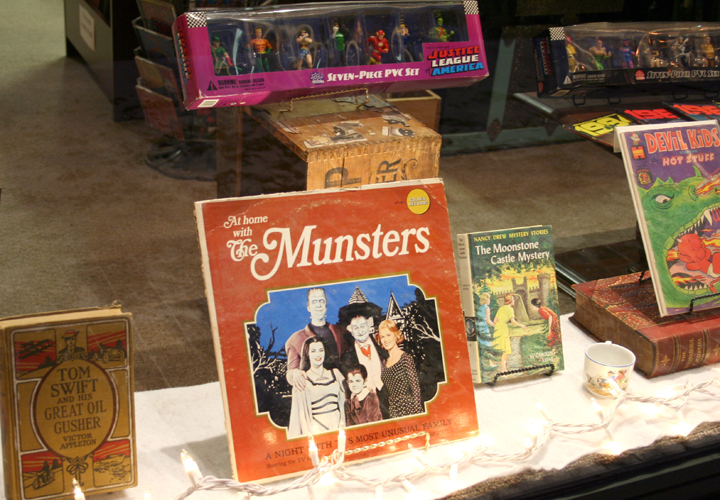 Tom Swift, Nancy Drew, Comics and The Munsters on vinyl.