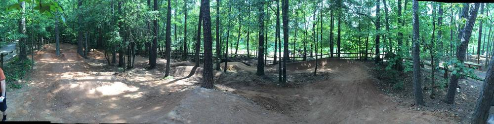 The newly rebuilt large pumptrack includes multiple line choices, larger rollers and jumps, and tons of fun for kids of all ages.