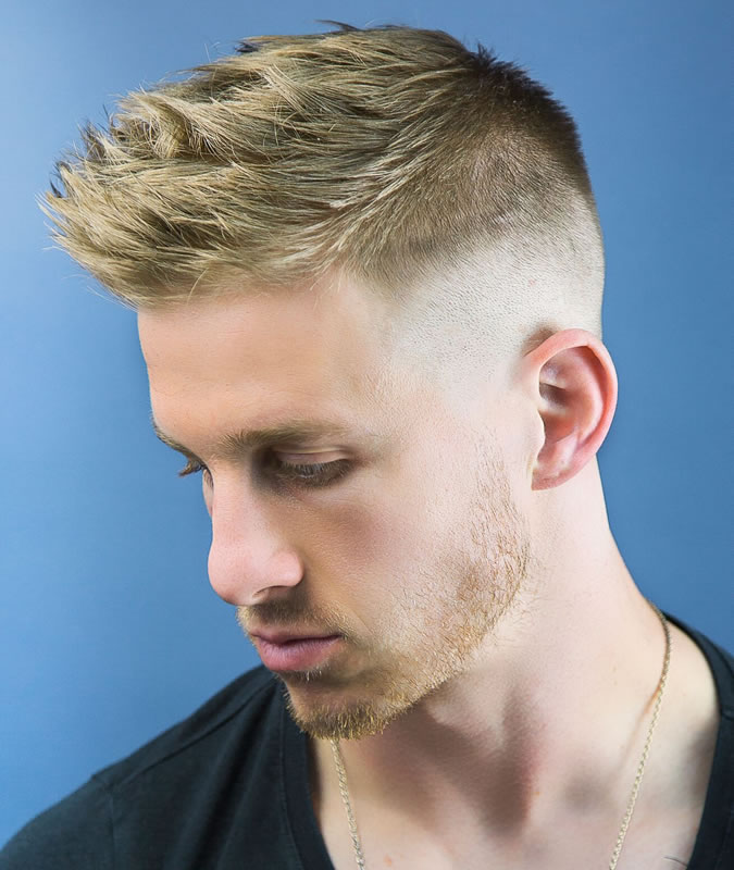 Mens Fade Faux Hawk Hairstyle