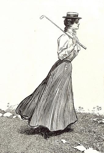 Shirtwaist Gibson Girl golfer.jpg