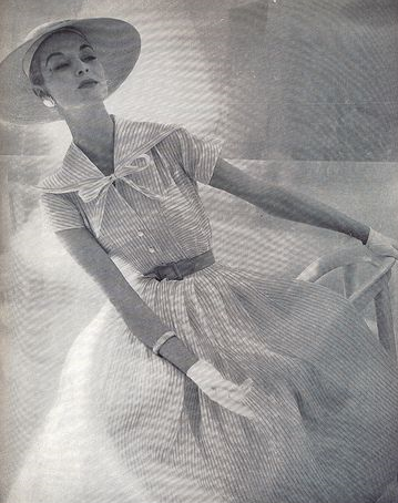 shirtwaist dress addie masters 1955 cotton organdy.png