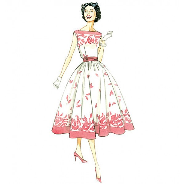 obi sash 1950s party dress pink.jpg