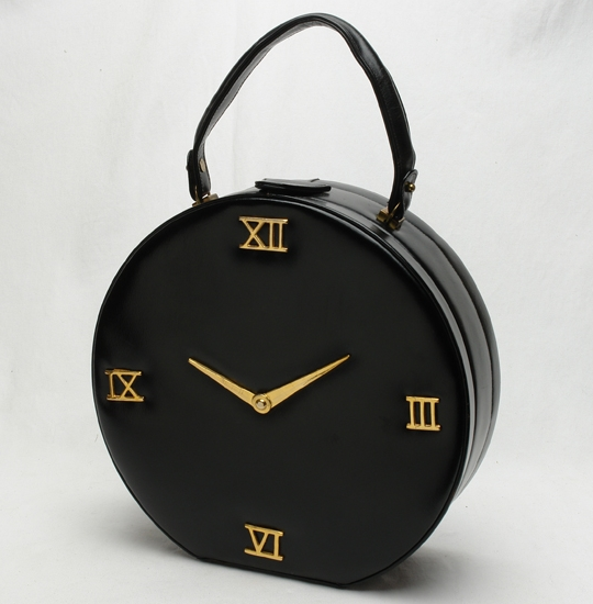 handbag black leather clock face (2).jpg