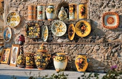 Vietri Ceramics, Traditional Lemon Motif