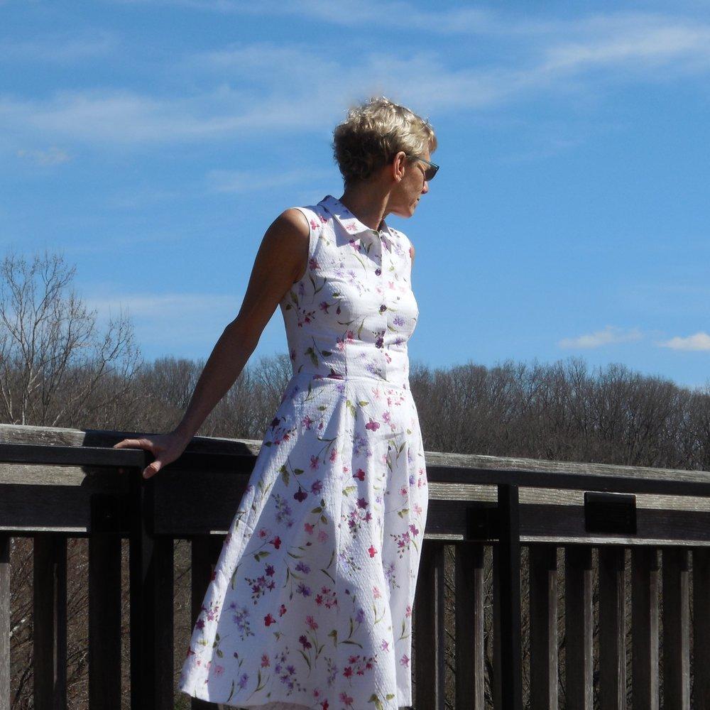 anikka becker. shirtwaist dress in alpine print swiss cotton pique.jpg