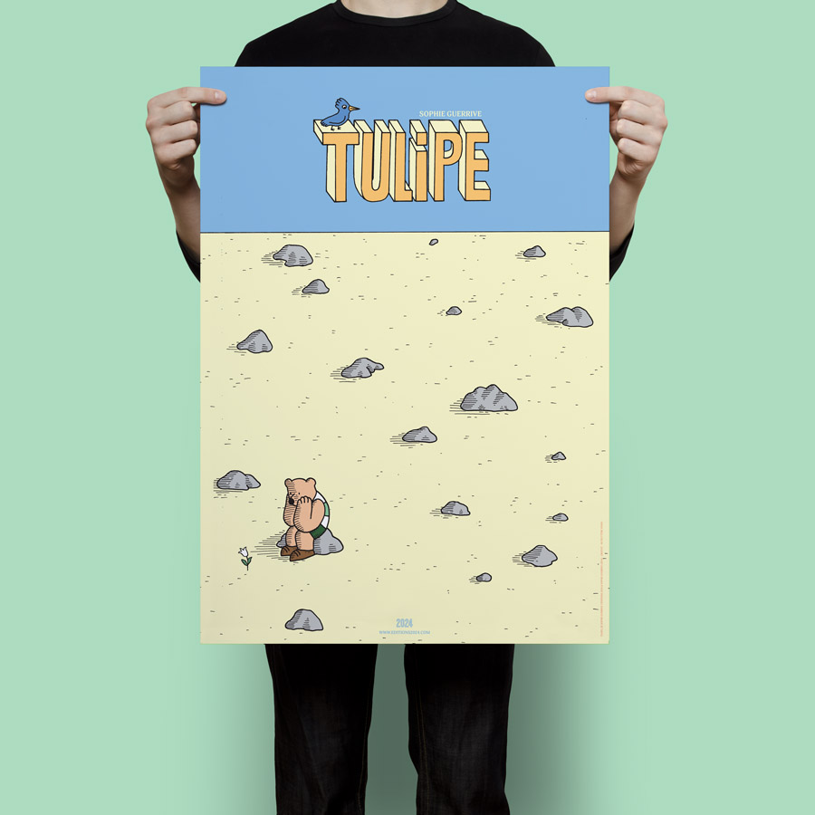 "POSTER ""TULIPE"" -- SOPHIE GUERRIVE -- 7 €"