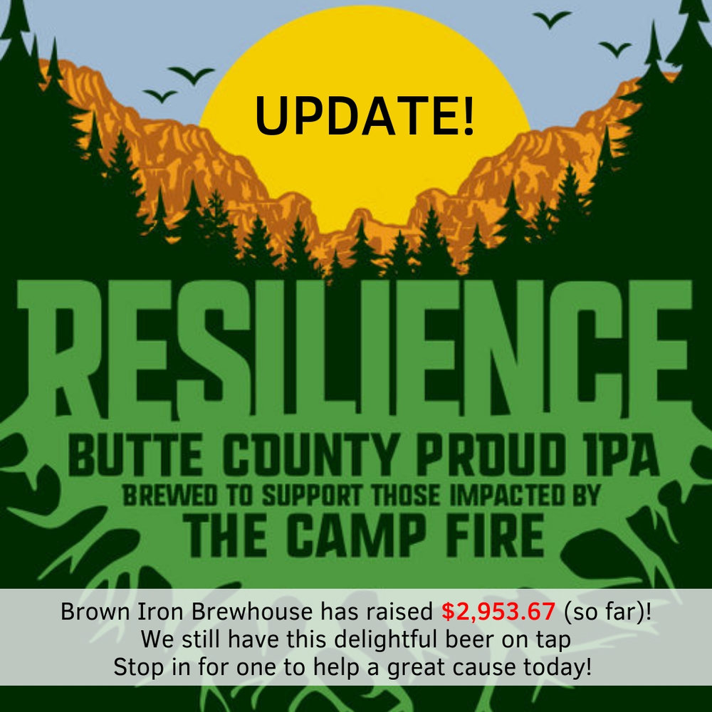 We're supporting the Butte County community by brewing #ResilienceIPA. We will donate 100% of Resilience sales to the Sierra Nevada Camp Fire Relief Fund to support those impacted by the Camp Fire. #ButteStrong