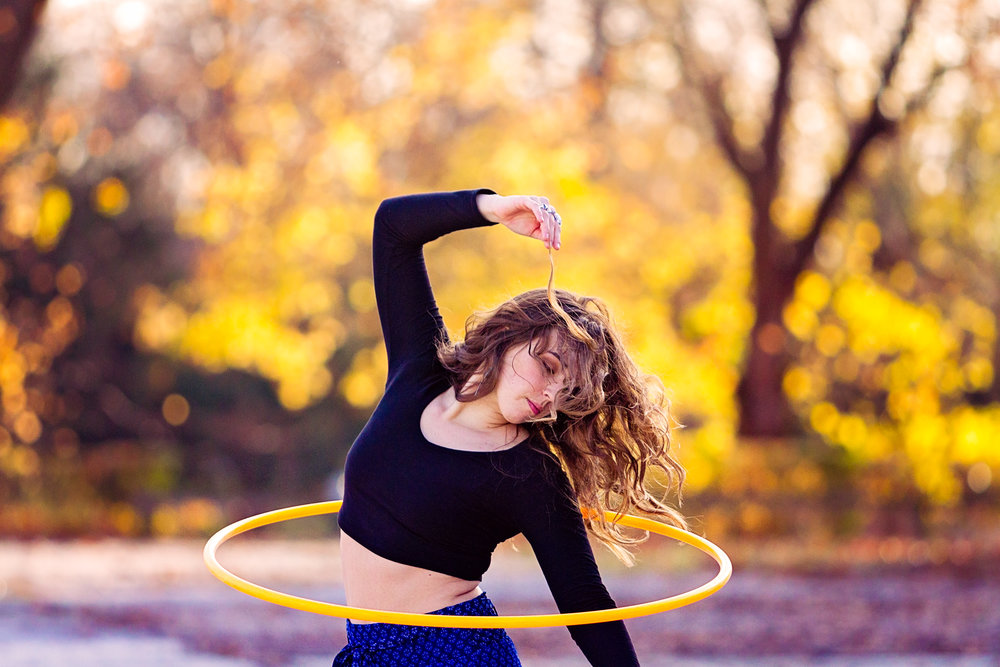 Hoopflow - Portrait + Brand session with the gorgeous hooping genius!