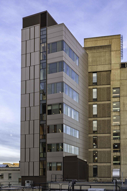 Building Built With No Elevator : Fegan elevator tower boston children s hospital