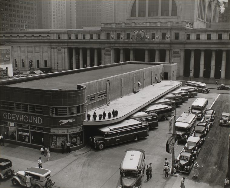 Berenice Abbott - Greyhound Bus Terminal, 34th St - from Changing New York (1936-38)