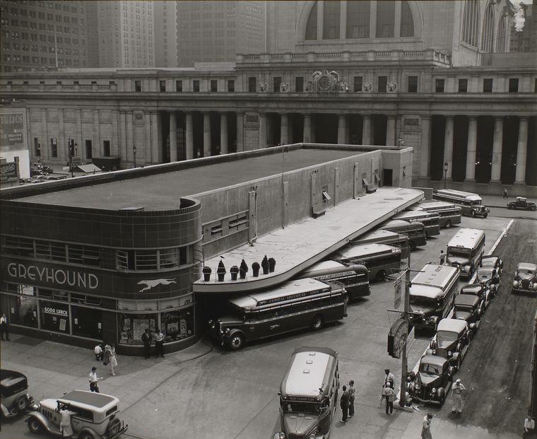 Berenice Abbott - Greyhound Bus Terminal, 34th St - from Changing New York (1936-38)