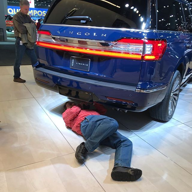 #naias2019 highlight 1: watching all the competitors aggressively measure, poke and examine each other's products.