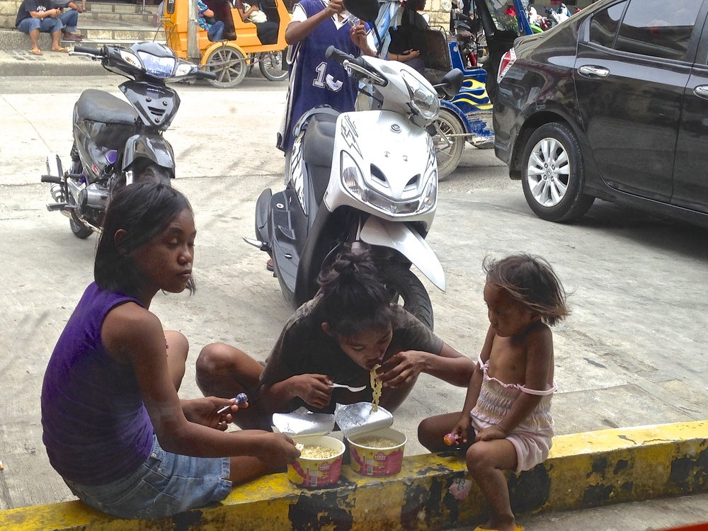 Street Children search for food every day in their struggle for survival
