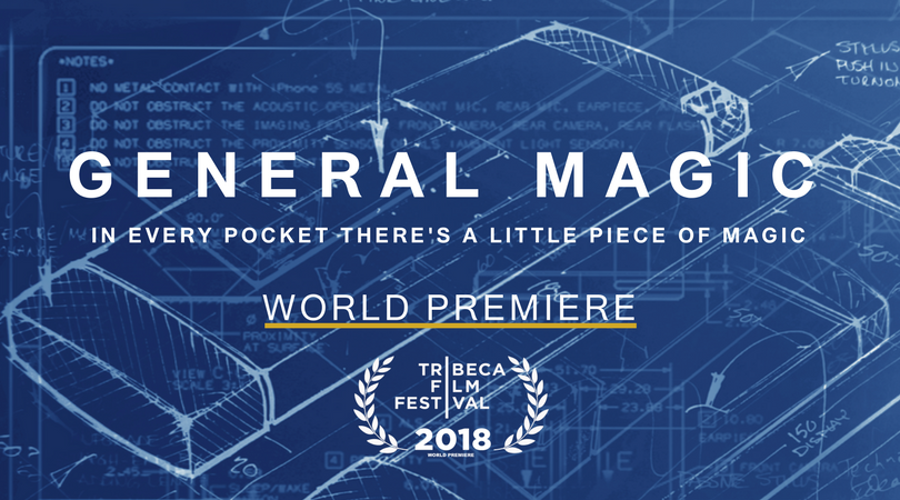GENERAL MAGIC // FEATURE PREMIERES AT TRIBECA 2018 - General Magic has had the honour of being selected for Premiere at the Tribeca Film Festival 2018. The Feature, scored by me, has been received with rave reviews and has already been picking up awards, most recently Winner of Best Documentary at the LA Film Awards.The soundtrack will be released soon.