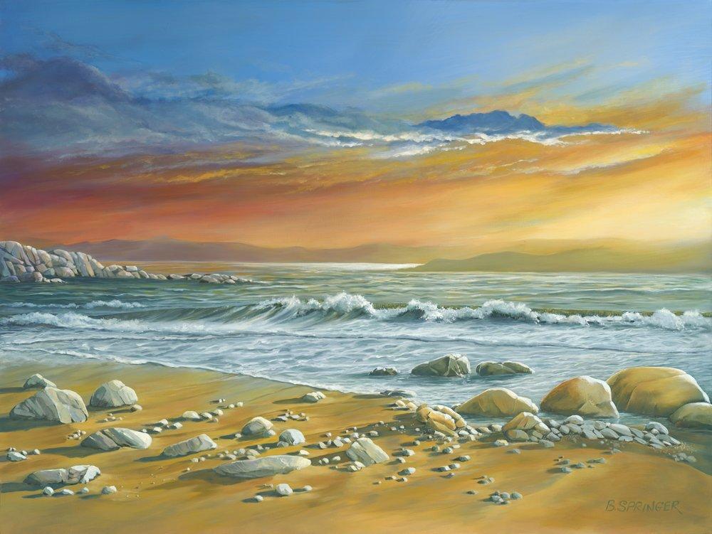 Beach Sunrise 36 x 48 Acrylic