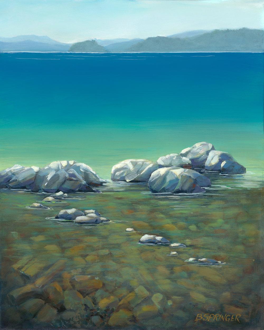 Rocky Beach 16 x 20 Acrylic