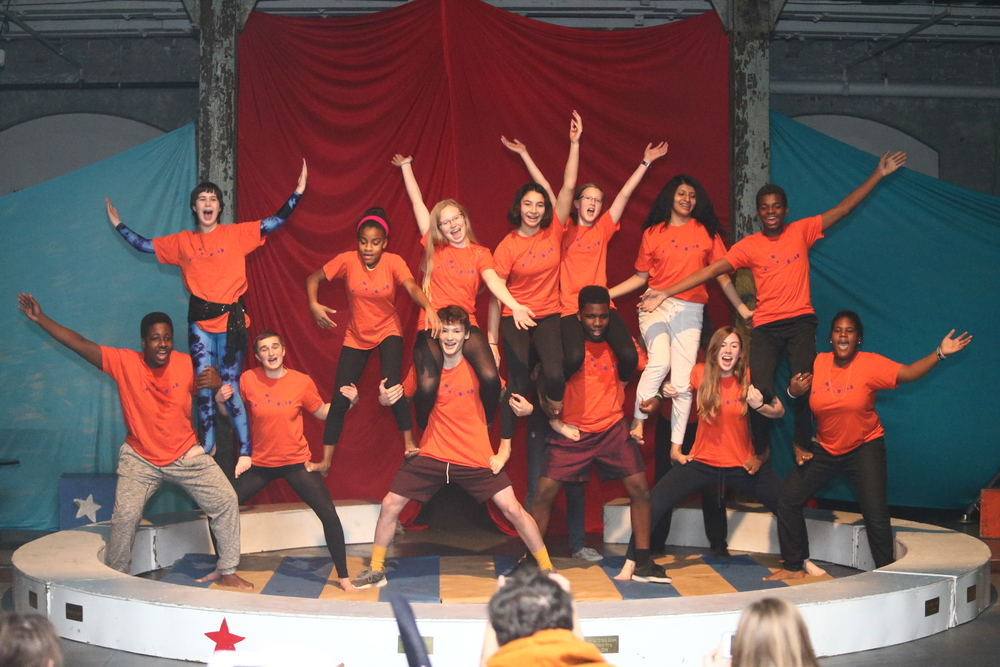 The Squad performs a final pyramid in the winter show.  Photo: Steve Sarafian