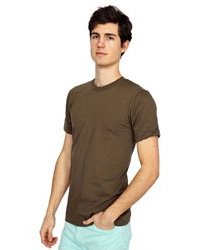 AMERICAN APPAREL 2001:   4.3oz., 100% fine combed   ringspun cotton