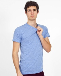 AMERICAN APPAREL TR401:  3.7 oz., tri-blend 50% polyester / 25% cotton / 25% rayo