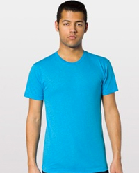 AMERICAN APPAREL BB401:   3.7 oz., 50/50 combed cotton -   50% cotton / 50% polyester