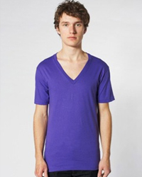 AMERICAN APPAREL 2456 V-NECK:   4.3 oz., 100% fine jersey cotton