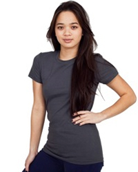 AMERICAN APPAREL 2102:   4.3 oz., 100% fine jersey cotton