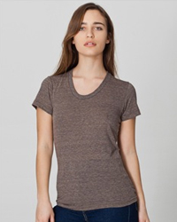 AMERICAN APPAREL TR301:  3.7 oz., tri-blend 50% polyester / 25% cotton / 25% rayon