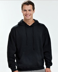 TULTEX 0320 PULLOVER:   7.5 oz., 80% ringspun cotton / 20% polyester   jersey lined hood