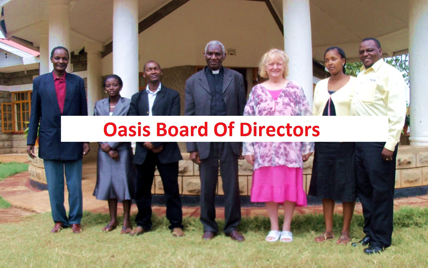 George Matua, Caroline Murugi, Moses Mwangi, Bishop David Kalua, Virginia Burbank, Dianah Maringa, Paul Gitari Maringa