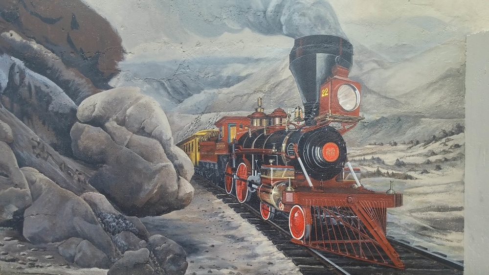 Train and landscape (Donna McNeely)