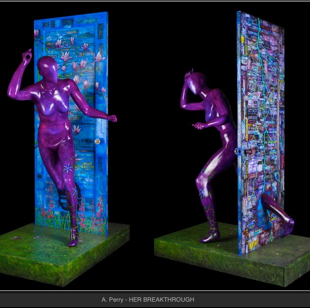 HER BREAKTHROUGH  Doors to Recovery Youth Addiction and Recovery Charity Project  Auctioned 2015 at the Nevada Museum of Art