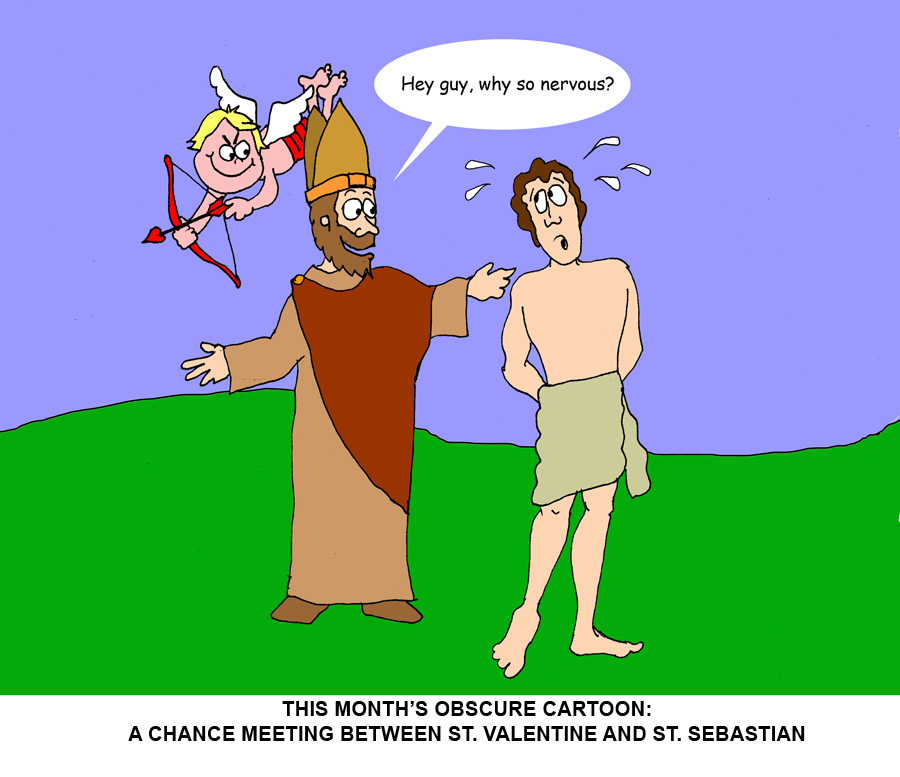 (If you're not sure who St. Sebastian is, check it out at our website:   http://www.friendsofthegroom.org/st-sebastian/