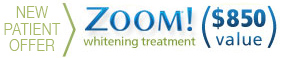 New patients at Koczarski Family & Aesthetic Dentistry receive a special offer for Zoom! whitening.