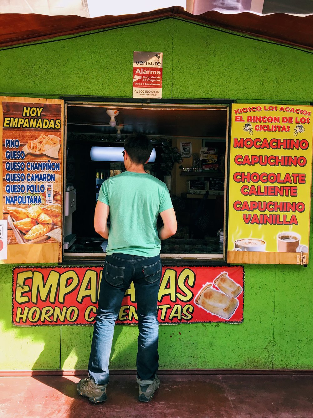 We ate these empanadas next to an incredibly healthy German man eating homemade tabouleh.