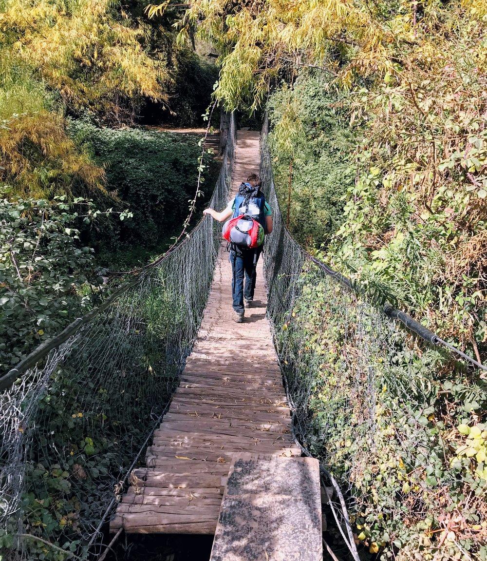 Maybe (definitely) the most unsafe bridge I've walked on